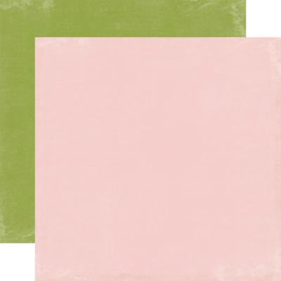 Echo Park : Splendid Sunshine : Lt.Pink/ green Distressed Solid