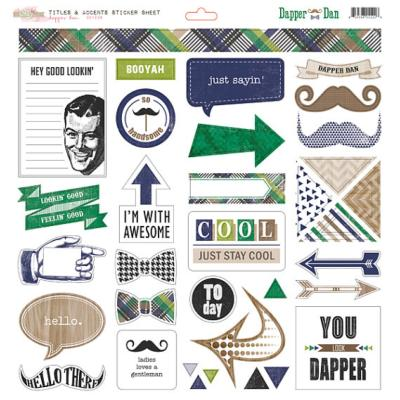 Glitz : Stiker Dapper Dan : Titles & Accents
