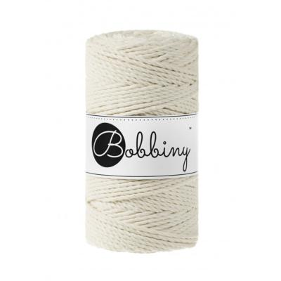 Bobbiny coton Naturel, 3 brin-3mm (100m)