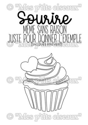 Tampons clear Adorable Cupcake - Mes Ptits Ciseaux