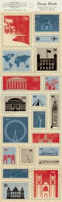 Authentique : Abroad : stickers timbres