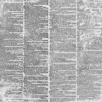 Papier Antique Dictionnary Page