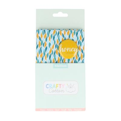 Crafty Cotton : Tissu Flame Honey