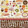 Carta Bella : A Perfect Autumn : Combo Stickers