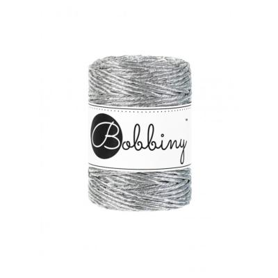 Bobbiny Simple torsion METALLIC SILVER-3mm (50m)