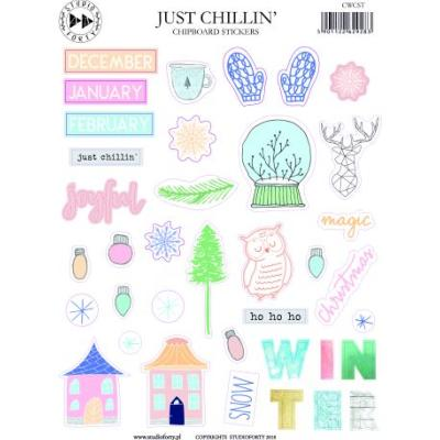 Just Chillin' - Studio Forty, Etiquettes cartonnées