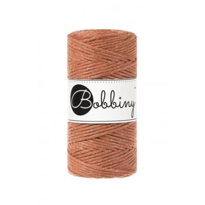 Bobbiny coton Simple torsion Golden Terracotta -3mm (100m)