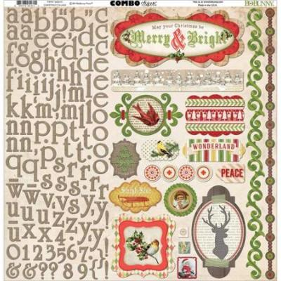 BoBunny : Christmas Collage - Combo Stickers