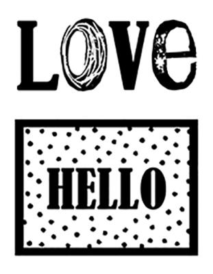 Tampon Clear LOVE/HELLO