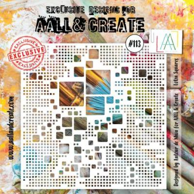 AALL and Create Stencil - Lotza Squares -113