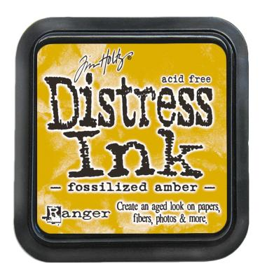 Tim holtz distress ink pad fossilized amber