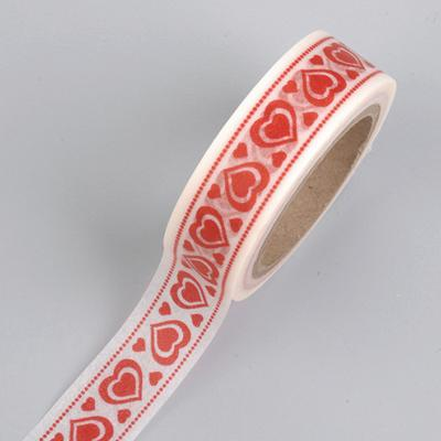 Washi tape Coeurs rouge