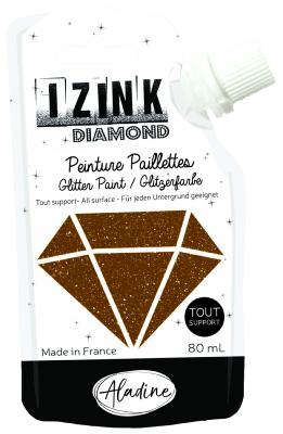 Aladine : Peinture paillettes : Izink Diamond : Marron