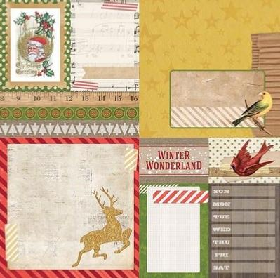 BoBunny : Christmas Collage Flurry