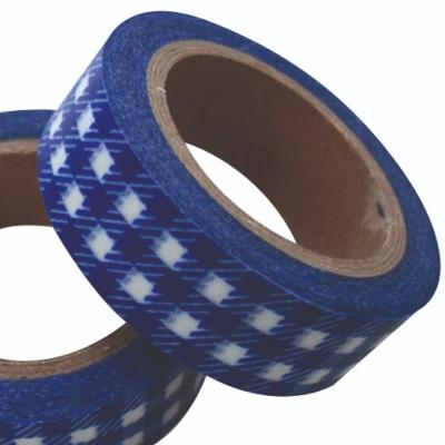 Washi tape Carreau Bleu
