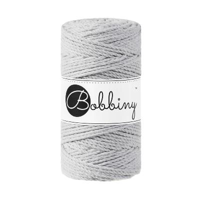 Bobbiny coton LIGHT GREY, 3 brin-3mm (100m)