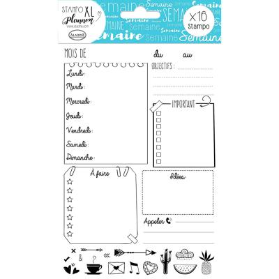 Aladine Stampo XL Planner : Page Semaine