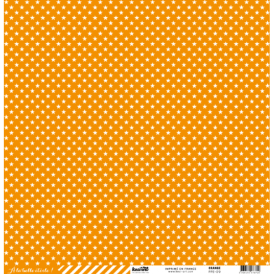 CARDSTOCK ÉTOILE - RAYURE ORANGE