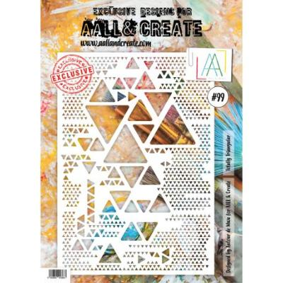 AALL and Create Stencil- Totally Triangular- 099