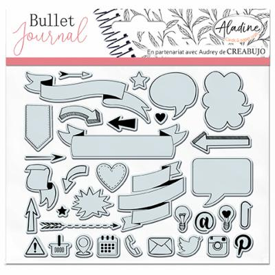STAMPO CLEAR - TAMPONS TRANSPARENTS - BULLET BANNIERES ET ICONES